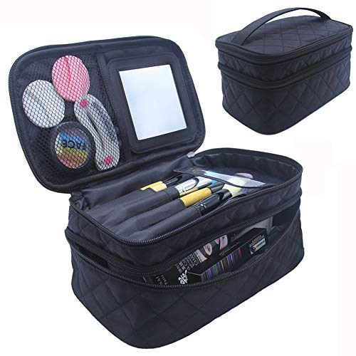 Relavel Travel Makeup Bag Large Cosmetic Makeup Brushes Bags Storage Organizer Professional Makeup Pouch for Women Travel Home