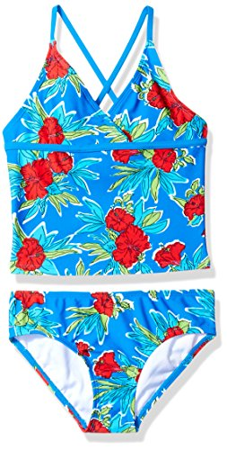 Kanu Surf Little Girls' Krista Floral Tankini Swimsuit, Royal, 6X