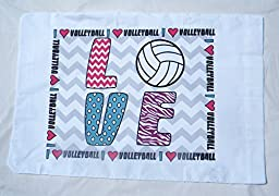 Love Volleyball Standard Pillowcase