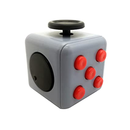 MCK Toy Fidget Cube Dice Stress Relieve Anxiety For Children And Adults Grey