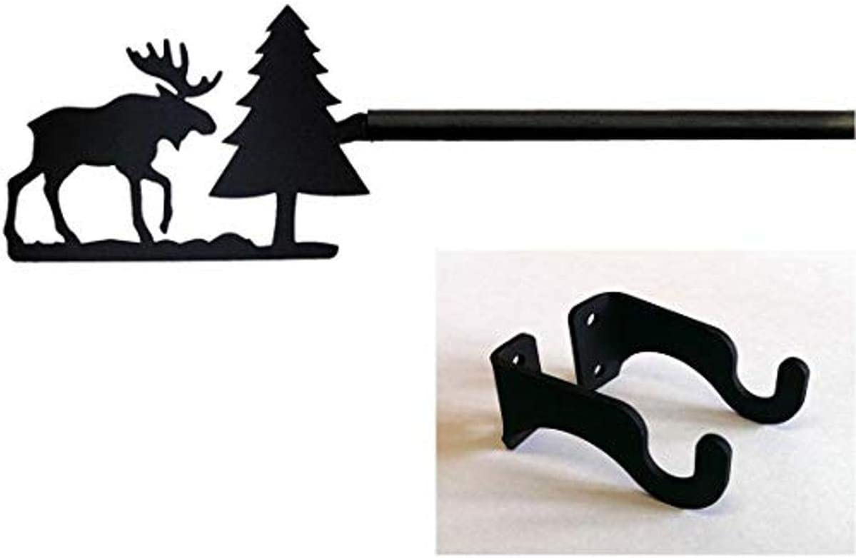 35 Inch Moose/Pine Curtain Rod Small