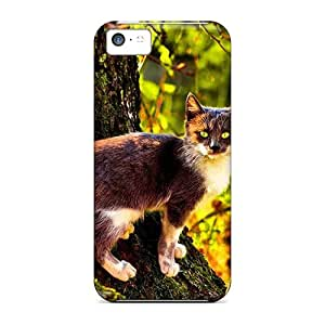 Perfect Fit UcC2138uAMp Wild Cat In The Woods Case For Iphone - 5c