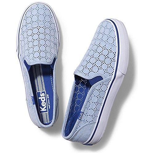 de lona deporte azul mujer Keds de moda Keds de de de doble Zapatillas para qYwHEE