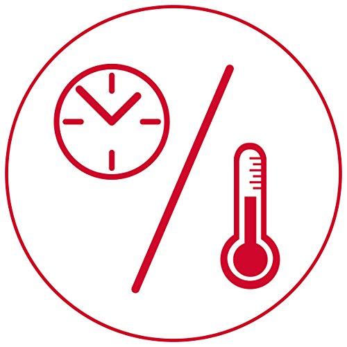 Medisana Báscula de Cocina Digital con Temporizador, Temperatura y Hora, Color Gris, Cristal, 15 x 22.7 x 3.6 cm: Amazon.es: Hogar