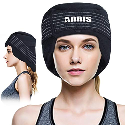 ARRIS Ice Cap for Headache and Migraine - Pain Relief Hat with Ice Pack for Migraine, Head and Neck Tension, Hot Cold Therapy Treatment for Chemo, Sinus Relief, Fever, Menopause, etc. (Best Pain Relief For Migraine Headaches)
