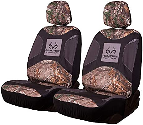 Sensational Realtree Low Back Camo Seat Covers For Car And Truck Fits Most Bucket Seats Machost Co Dining Chair Design Ideas Machostcouk