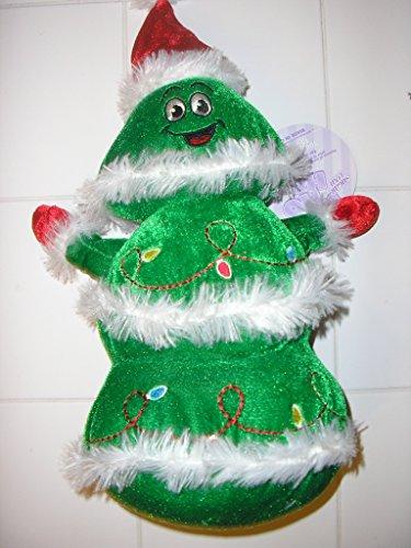 (Sugar Loaf Smiling Face Santa Christmas Tree Plush Doll Toy)