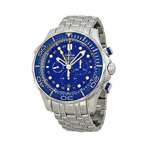 - Omega Seamaster Blue Dial Stainless Steel Mens Watch 21230445203001