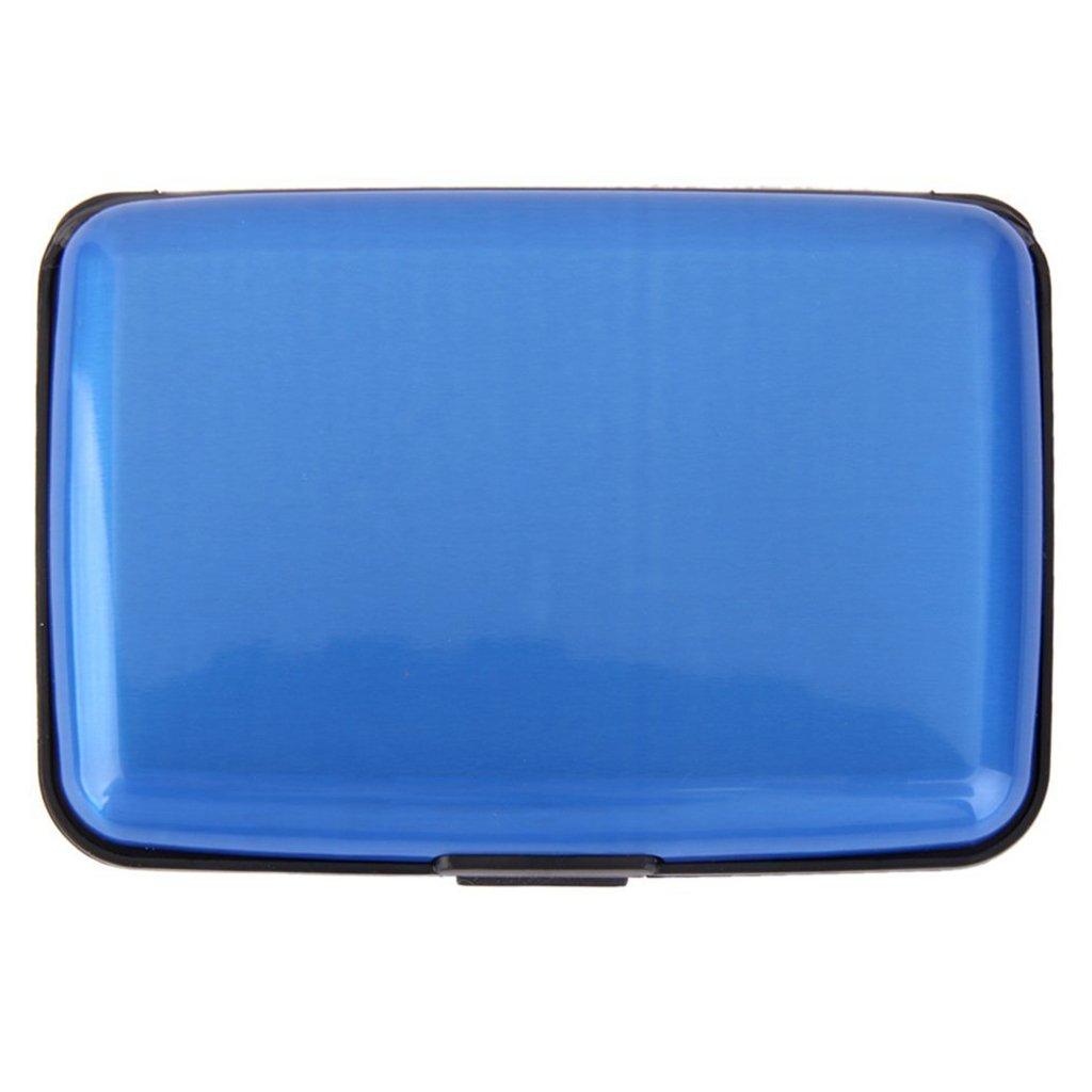Aluminium Etui - SODIAL(R) Mini Wasserdichte Aluminium Etui Geschaeft Identifikation Kreditkarte Halter (Schwarz) 084266A5