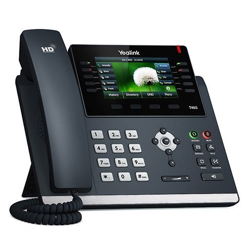 Yealink SIP-T46S Ultra-Elegant Gigabit IP Phone, 10 Line Keys Can Be Programmed with Up to 27 Features on 3 Page View Sip Ip Phone