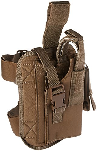 VooDoo Tactical 20-0052007002 Drop Leg Holster, Left, Coyote (Left Handed Leg Holster)