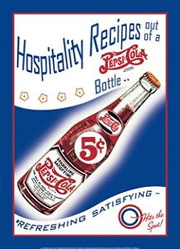 (Pepsi Cola Hospitality Recipes 13 X 17 Metal Sign)