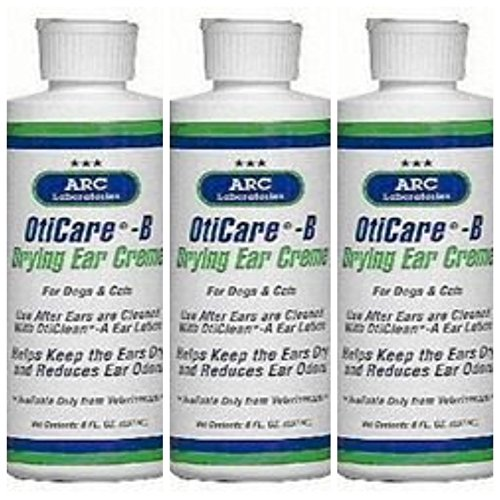 OtiCare B Ear Drying Creme for Dogs and Cats, 2 Ounces Each, 3 Pack (Antiseptic Ear Powder For Dogs)