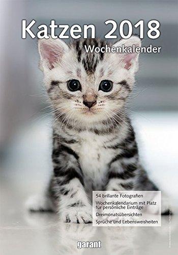 Wochenkalender Katzen 2018