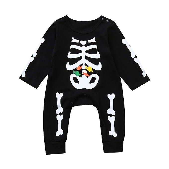 Amazon.com: MODOQO Toddler Baby Boys Romper Halloween Bone ...