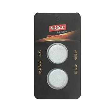 Funnyrunstore 2Pcs Tabletas efervescentes multifuncionales Limpiaparabrisas Limpiador de vidrios Pastillas detergentes (Blanco): Amazon.es: Hogar