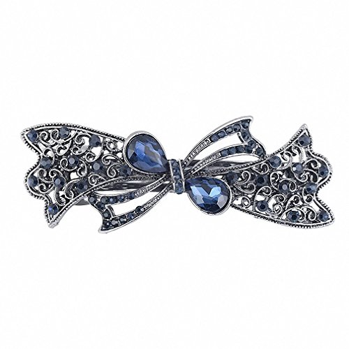 (Womens Vintage Metal Hairpins Hair Clips Accessories Jewelry Fashion Women Girls Butterfly Leaf Peacock Barrettes Hairwear Imitation Rhodium Plated)