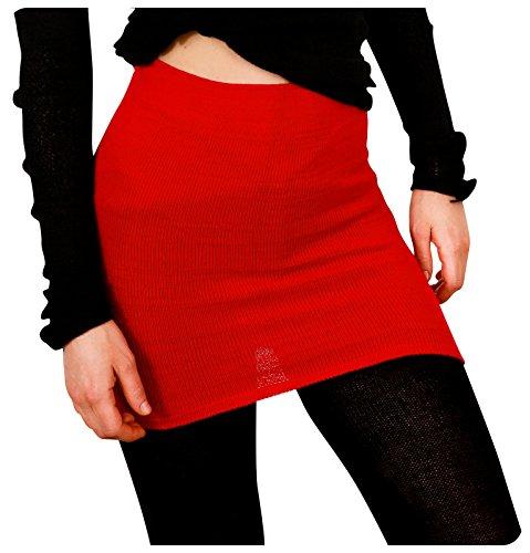 KD dance New York New York Black Medium Yoga Dance Stretch Knit Ballet Skirt ()