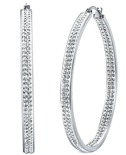 Besteel Stainless Earring Rhinestone Pierced