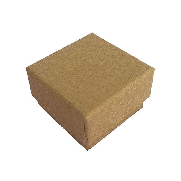 Artibetter Caja del Regalo de la Caja de joyería de Kraft ...