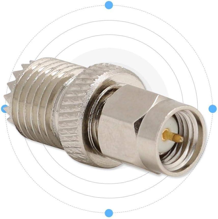 2PCS SMA//Mini to JK Adapter Converter Adapter RF Coax Connector SO239 PL259 RTL-SDR HT Handheld Antenna pl-259 Converter Two Way Radio RF Antenna Adapter