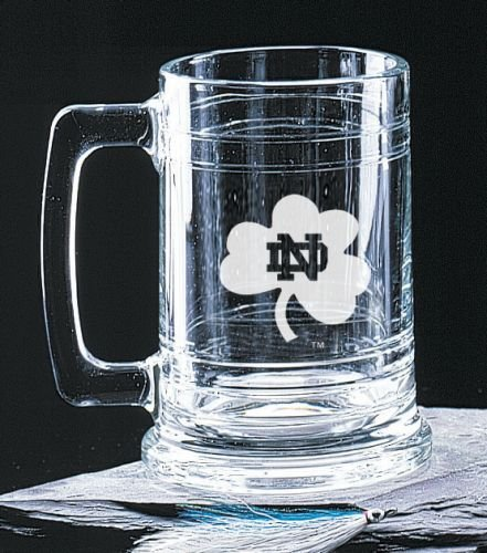 - Notre Dame Fighting Irish Shamrock 15 Oz Deep Etched Colonial Beer Tankard