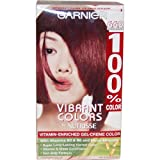 Garnier 100% Color Intense Gel-Creme Color, Permanent, Intense Auburn 660