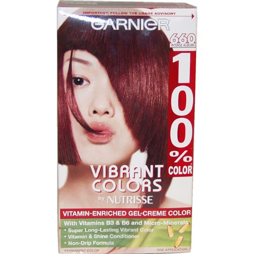 Garnier 100% Color Vitamin Enriched Gel-Creme Color, No.660 Intense Auburn