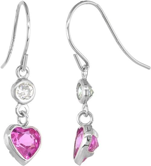 white sapphire charming 18k white gold filled dangle earring HOT SALE earring