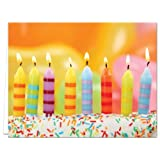 24 Birthday Cards for $14.99 - Blow Out the Candles - Blank Cards - Yellow Envelopes Included
