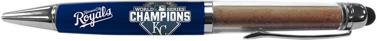 Kansas City Royals 2015 World Series Champions Dirt Pen w/Game Used Dirt from Kauffman Stadium World Series Game