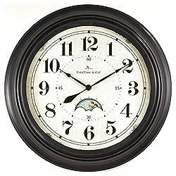 FirsTime 25676 Luna Wall Clock, Oil Rubbed Bronze