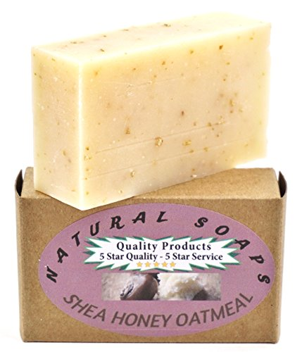 100% Natural & Organic. Handmade Shea Honey Oatmeal Soap, Unscented. So good for your skin! Use on Hands, Face, or All over Body 4.3oz bar