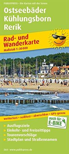 Ostseebäder Kühlungsborn - Rerik: Rad- und Wanderkarte mit Ausflugszielen, Einkehr- & Freizeittipps und Stadtplänen, wetterfest, reißfest, abwischbar, GPS-genau. 1:30000 (Rad- und Wanderkarte / RuWK) Landkarte – Folded Map, 1. Juni 2017 reißfest PUBLIC