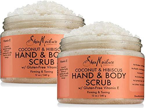 Shea Moisture Coconut & Hibiscus Hand & Body Scrub, 12 Oz, Pack of 2