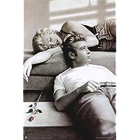 James Dean Marilyn Monroe Rose 24x36 Posters