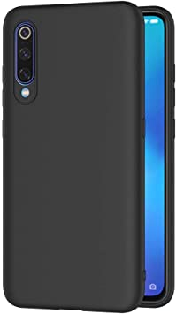 AICEK Funda Xiaomi 9, Negro Silicona Fundas para Xiaomi Mi 9 ...