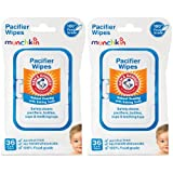baking soda wipes - Munchkin 72 Pack Arm and Hammer Pacifier Wipes, White