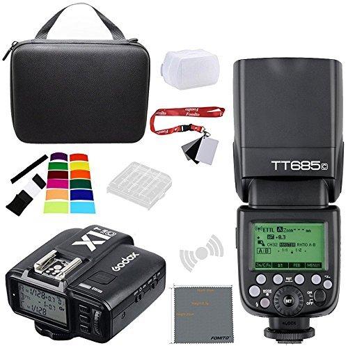 Fomito Godox tt685 TTL II 2 4 GHzワイヤレスマスター/外部カメラTTLスピードライト& x1t送信機トリガーHSS for Canon Nikon Sony TT685C + X1T-C FMTSNTT685CX1Cの商品画像