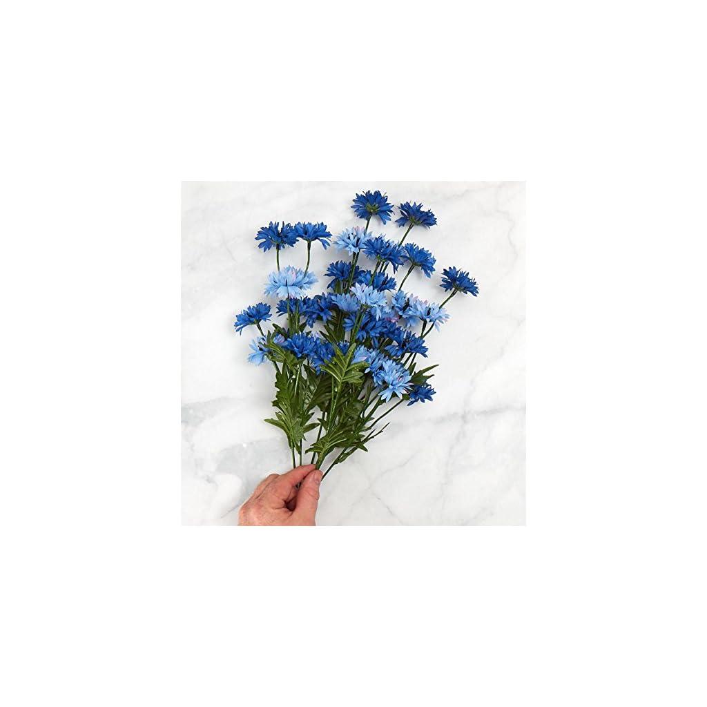 artificial cornflower flowers