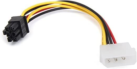 4 Pin Molex Male To 6 Pin Pci Express Pcie Female Power Adapter Cable Amazon Ca Electronics