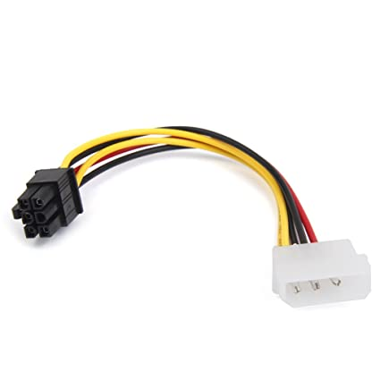 Generic 4-Pin Molex Male to 6-Pin PCI- Express PCIE Power Adapter on