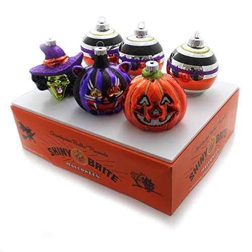 Shiny Brite Halloween Rounds and Figures Ornament - Set of Six ()