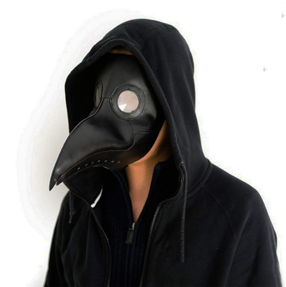 Gmasking Plague Doctor Mask Birds Long Nose Beak Steampunk Halloween Costume Props
