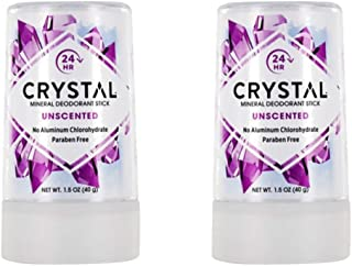 product image for Crystal Body Deodorant Travel Stick, Unscented 1.5 oz (Pack of 2)