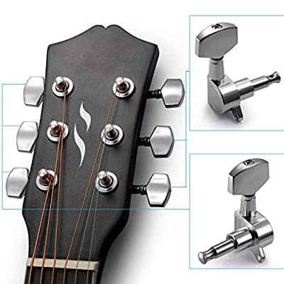 6 Pieces Guitar String Tuning Key Pegs/Machine Head Knobs(3 for Left and 3 for Right)