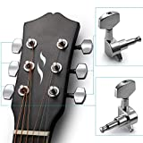 Neewer® 6 Pieces Sliver Acoustic Guitar Machine Heads Knobs Guitar String Tuning Peg Tuner(3 for Left + 3 for Right)