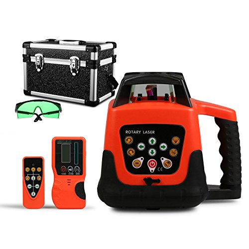 happybuy-laser-level-green-rotary-laser-level-360-self-leveling-laser-leveler-with-remote-control-gr