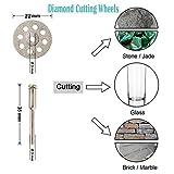 "Cutting Discs for Dremel Rotary Tool, Diamond Metal Wood Cutting Wheels for Dremel, HSS Circular Saw Blades 6pcs with 1/8"" Shank, Resin Cutting Discs 20pcs, 545 Diamond Cutting Wheels 10psc"