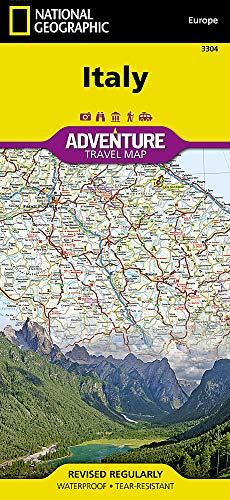 Italy (National Geographic Adventure Map) (Italy Driving Map)